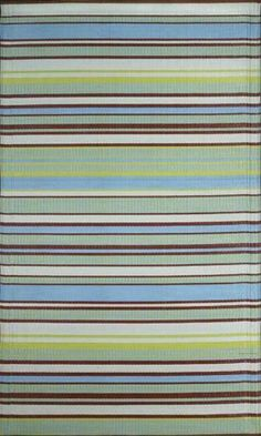"""Mad Mats - Stripes Aqua Grey - 30"""" X 8' Runner by Mariachi. $38.99. Indoor/outdoor, non-skid surface, reversible. 30"""" x 8 ft Runner. Wonderful color.. Made of recycled polypropylene which is a plastic like material.. Waterproof and washable outdoor rugs. Decorative outdoor runner with the perfect marriage of functionality and decorative design. Woven using multi colored polypropylene threads. Polypropylene is a plastic rubber like material so you can leave these rugs outdoor..."""