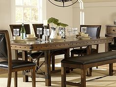 Rustic Turnbuckle Dining Room Furniture In Burnished Oak Table Check This Awesome Product