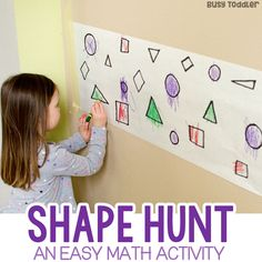 What a great math activity! Check out FInd the Shapes - a quick and easy math activity for toddlers and preschoolers. A fun learning activity with shapes from Busy Toddler. Math Activities For Toddlers, Fun Math, Preschool Activities, Easy Math, Shapes For Toddlers, Shape Activities, Maths, Preschool Shapes, Preschool Classroom