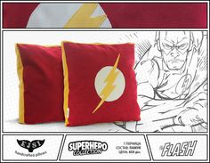 Superhero throw pillows handcrafted quality cushions by EJSIdsgn