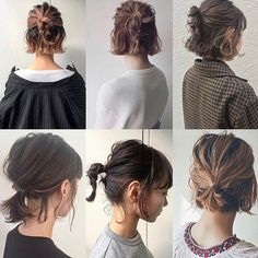 Easy Hairstyles Hairstyles for Long Hair Videos Hairstyles Tutorials Compilation 2019 Long To Short Hair, Braids For Short Hair, Easy Hairstyles For Short Hair, Bun With Short Hair, Short Hairstyle Tutorial, Bob Hairstyles How To Style, Styling Short Hair Bob, Style Short Hair, Step Hairstyle