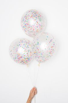 "Confetti Balloons / 11"" Tiny Rainbow DIY Set of 12 / As Seen on Today Show by knotandbow on Etsy https://www.etsy.com/listing/229059786/confetti-balloons-11-tiny-rainbow-diy"