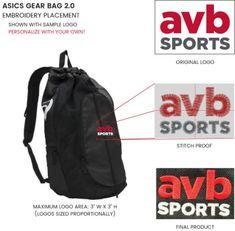 ASICS Gear Bag 2.0 Volleyball Equipment, Volleyball Gear, H Logos, Water Bottle Holders, Athletic Gear, Duffel Bag, Asics, Gears, Drawstring Backpack