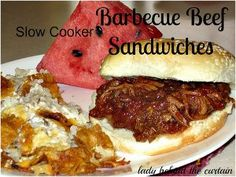 All-Day Barbecue Beef Sandwiches   AllFreeSlowCookerRecipes.com