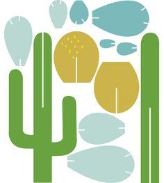 |Cactus| - Para fazer cactos de papel
