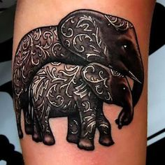 Elephant Family Tattoo Idea