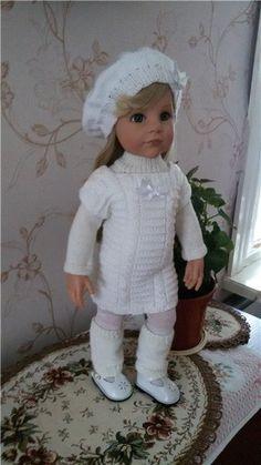 Вязанный комплект для кукол Готц / Одежда для кукол / Шопик. Продать купить куклу / Бэйбики. Куклы фото. Одежда для кукол