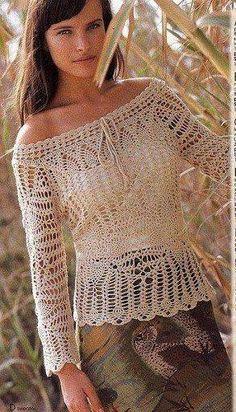 crochet tunics with charts