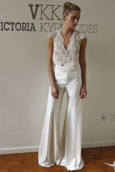 Wedding Outfit ideas for Guest - pants separates victoria kyriakides spring 2016 - Trend Women Fashion Wedding Wear, Wedding Suits, Wedding Attire, Wedding Gowns, Civil Wedding, Bridal Pants, Wedding Jumpsuit, Wedding Dress Suit, Bridal Outfits