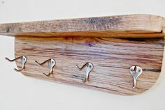 """$52 (etsy) - 20"""" shelf might be nice to have it short like this? Wood Coat Rack Shelf combination Beefy by RobsRusticCreations"""