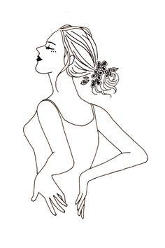 おしゃれなシンプルイラスト Le matin -朝- Female