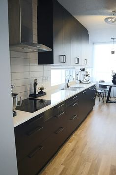 ELDHÚS FYRIR OG EFTIR / AÐFERÐ Kitchen Island, Diy, Home Decor, Island Kitchen, Decoration Home, Bricolage, Room Decor, Do It Yourself, Home Interior Design