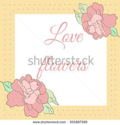 Card with hibiscus flowers