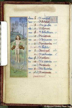January 2 - Book of Hours, MS M.6 fol. 2v - France, circa 1480 - The Morgan Library & Museum