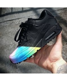 Nike Air Max 90 Black Rainbow Custom Trainer