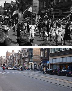 Ghosts of war, Then & Now, old photos  and today's location