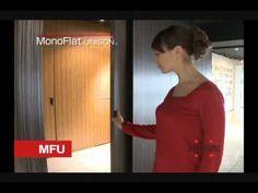"""hidden door possible for front closet opening. Sugatsune Lapcon Monoflat Unison Flush Sliding door """"Hidden Door Hardware"""""""
