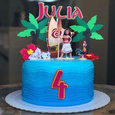 Moana Theme Cake, Bolo Moana, Moana Party, Themed Cakes, Cake Decorating, Birthday Cake, Desserts, Food, Party Ideas