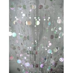 3' x 6' Foot Beaded Curtain Panels - Crystal Iridescent Champagne Bubble Curtains