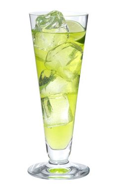 L.A Iced Tea (a twist on Long Island Iced Tea) - Midori, vodka, gin, rum, triple sec, simple syrup, fresh lime juice, topped with club soda