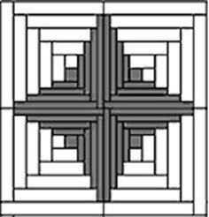 Benartex лоскутное одеяло основа неровные Бревенчатый домик in Рукоделие, Ткань | eBay