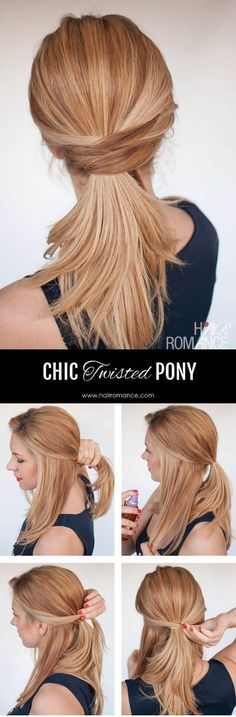 Chic twisted ponytail!