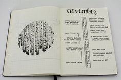 Liz @bonjournal_'s Monthly Log in her Bullet Journal