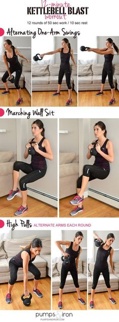 12-Minute Kettlebell Blast Workout #strong #fitness