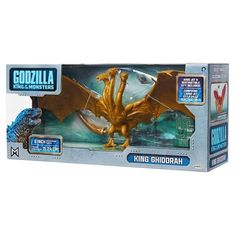 Godzilla: King of the Monsters Monster Pack King Ghidorah Action Figure King Kong, Godzilla Birthday Party, Bath Bomb Kit, Game Of Thrones, Ranger, Disney Cars Toys, Godzilla Toys, Ancient Myths, Slime For Kids