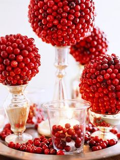 Winter party ideas: cranberries