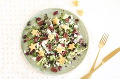 Salade met feta, cranberries en honing-pecannoten