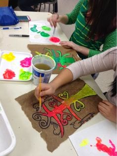 Art at Becker Middle School: Amate Bark Painting