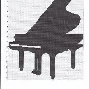 piano silhouette afghan graph pattern - via @Craftsy