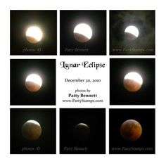 www.PattyStamps.com - great idea for documenting the phases of the lunar eclipse