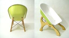 En skottkärra att sitta i. Lite udda stol | Feber / Design