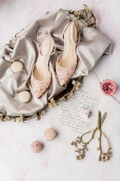 Blush wedding shoes idea - wedding shoes for bride {Wheat and Honey Wedding}