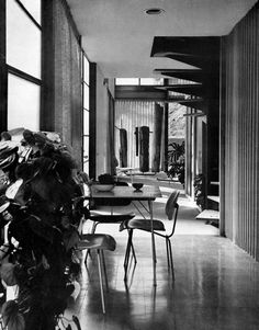 Eames House dining nook. Photo credit: Arts and Architecture Magazine.