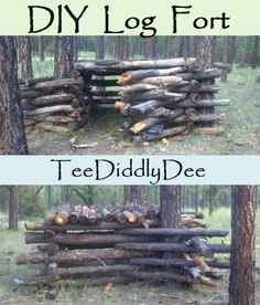 how to make a stick fort