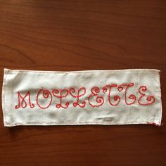 Finito ricamo monogramma per borsa!