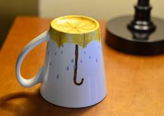 Rainy Day - Spring Decor Coffee Mug - Hand Painted Coffee Mug