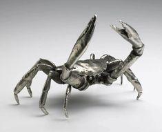 Cyan Design 01897 Large Crab Silver Leaf Home Decor Accents Statues & Figurines Coastal Homes, Coastal Decor, Coastal Cottage, Statues, Cyan, Metal Lanterns, Burke Decor, Nautical Theme, Accent Pieces