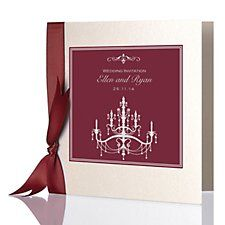 Crystal Invitation (burgundy) by Bride & Groom Direct - Available through the Wedding Heart website: http://www.weddingheart.co.uk/bride-and-groom-direct---wedding-invitations.html