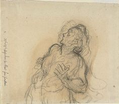 Daumier Frightened Woman | The Art Institute of Chicago