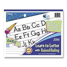 This writing pad is great to take on the go. Who says writing has to only be done in the writing center? Mead Learn to Letter with Raised Ruling Writing Tablet, 40 Sheets of 8 X 10-inch, White (MEA48170-SN) Mead