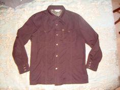 Vtg 70s Lee Blue Poly Knit Western Leisure Rockabilly Jacket Mens XL #Lee
