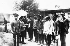 A group of recruits to the Russian Army shortly before the outbreak of war, August 1914. On July 29, 1914, the Tsar ordered full mobilization. In response, Germany declared war on Russia.