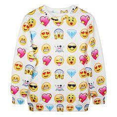 Unisexe Hipster pull emoji blanc pullovers Sweatshirt 3D swag t-shirt (S) Emoji joggers http://www.amazon.fr/dp/B00QOBA4PK/ref=cm_sw_r_pi_dp_Q2fHub04R5784