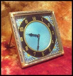 Vintage Guilloche Clock