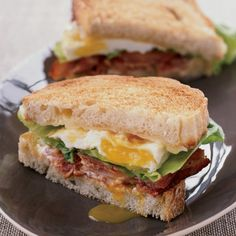 BLT Fried Egg-and-Cheese Sandwich Recipe - Thomas Keller | Food & Wine #sandwich #blt #alltimefavorite #bacon #CapitalPackers