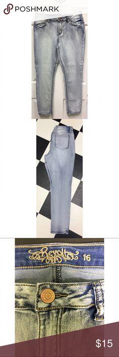 Revolt acid washed blue jeans size 16 Revolt acid washed skinny jeans in excellent condition size 16 revolt Jeans Skinny